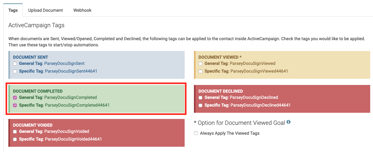 ActiveCampaign Parsey Integration Screenshot 5