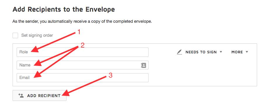 add recipient